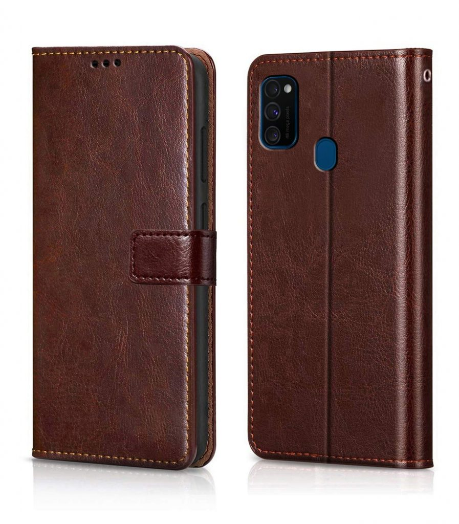 Leather Finish Chachi Mobile Flip Cover